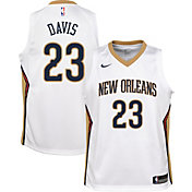 Nike Youth New Orleans Pelicans Anthony Davis #23 White Dri-FIT Swingman Jersey