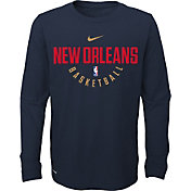 Nike Youth New Orleans Pelicans Dri-FIT Navy Practice Long Sleeve Shirt