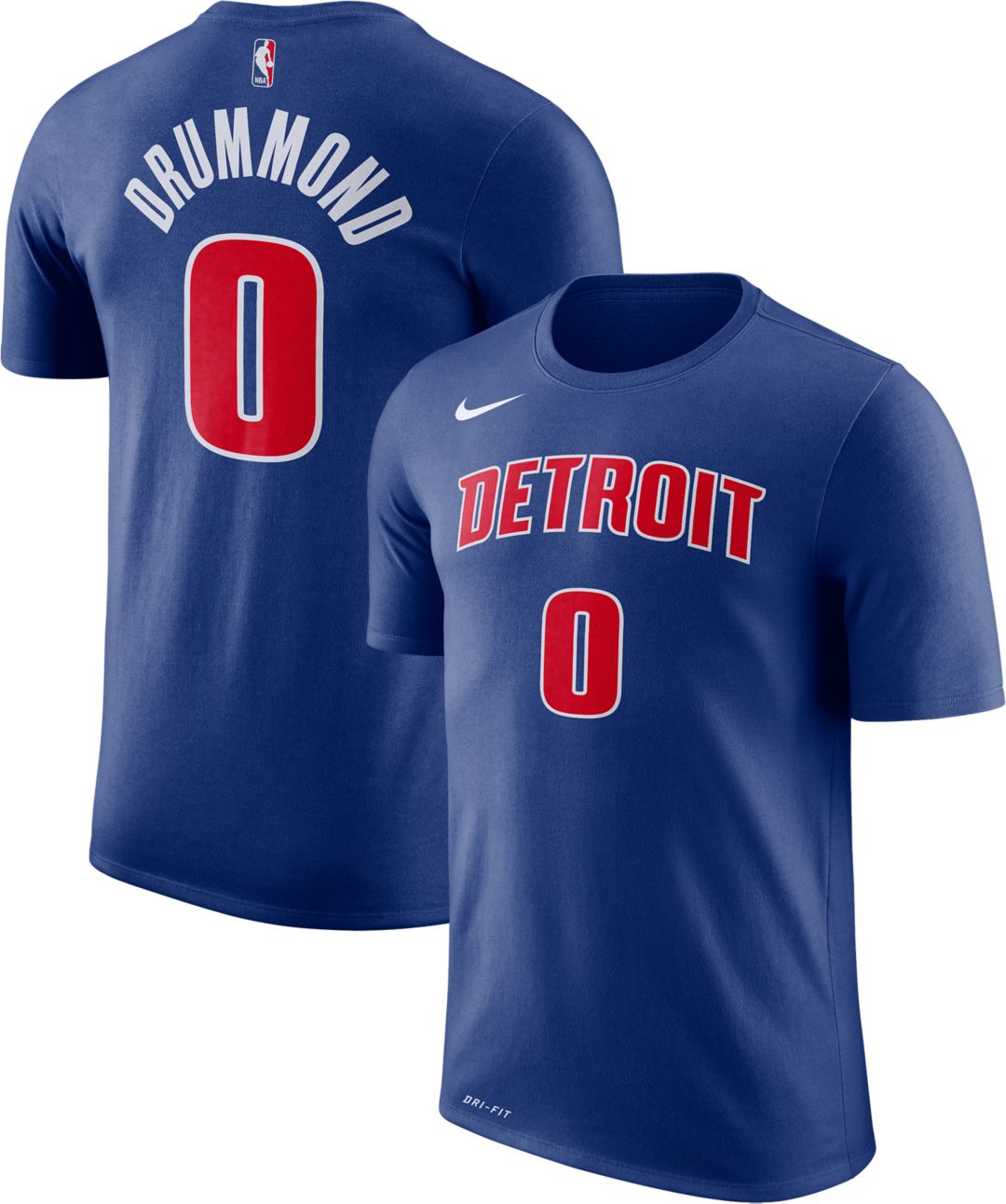 the latest 884b2 68b6f Nike Youth Detroit Pistons Andre Drummond #0 Dri-FIT Royal T-Shirt