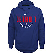 Nike Youth Detroit Pistons Therma-FIT Royal Practice Performance Hoodie