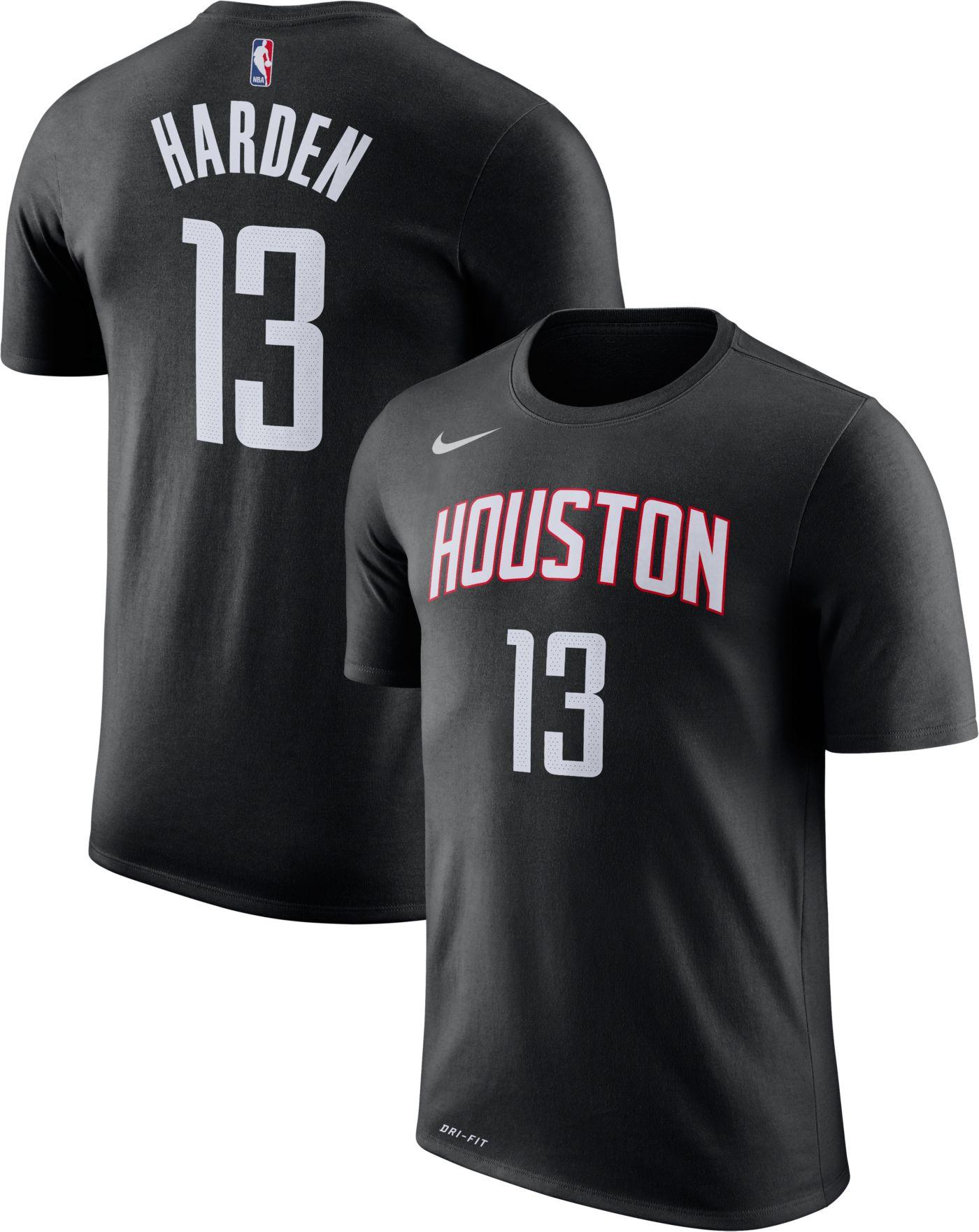 Nike Youth Houston Rockets James Harden #13 Dri-FIT Black T-Shirt