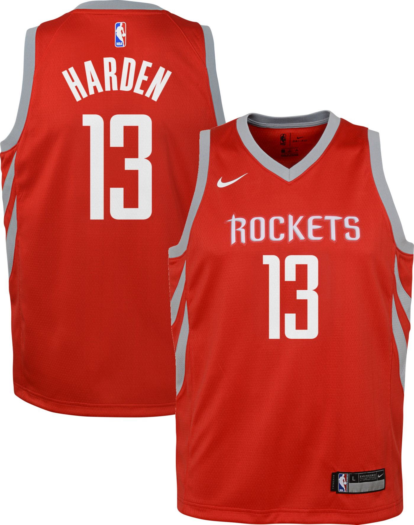 Nike Youth Houston Rockets James Harden #13 Red Dri-FIT Swingman Jersey