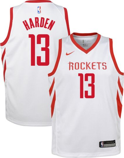 Nike Youth Houston Rockets James Harden  13 White Dri-FIT Swingman Jersey.  noImageFound 673b5bb02