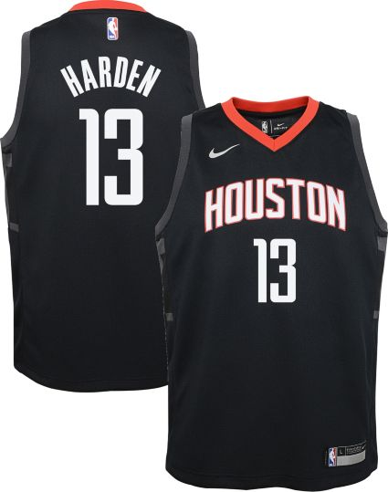 e63e94f83 Nike Youth Houston Rockets James Harden  13 Black Statement Dri-FIT Swingman  Jersey. noImageFound
