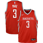 Nike Youth Houston Rockets Chris Paul #3 Red Dri-FIT Swingman Jersey