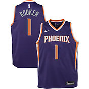 Nike Youth Phoenix Suns Devin Booker #1 Purple Dri-FIT Swingman Jersey
