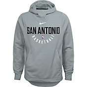 Nike Youth San Antonio Spurs Therma-FIT Grey Practice Performance Hoodie