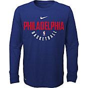 Nike Youth Philadelphia 76ers Dri-FIT Royal Practice Long Sleeve Shirt