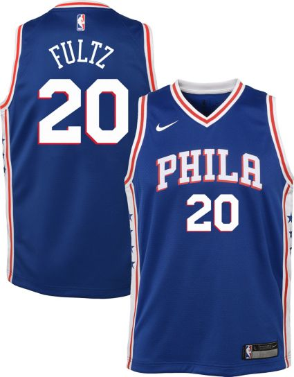a035999d Nike Youth Philadelphia 76ers Markelle Fultz #20 Royal Dri-FIT Swingman  Jersey