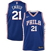 1b54ddd28 Product Image · Nike Youth Philadelphia 76ers Joel Embiid  21 Royal Dri-FIT  Swingman Jersey
