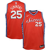 Nike Youth Philadelphia 76ers Ben Simmons #25 Red Dri-FIT Swingman Jersey