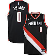 Nike Youth Portland Trail Blazers Damian Lillard #0 Black Dri-FIT Swingman Jersey