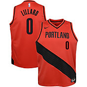 Nike Youth Portland Trail Blazers Damian Lillard #0 Red Dri-FIT Swingman Jersey