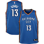 Nike Youth Oklahoma City Thunder Paul George #13 Blue Dri-FIT Swingman Jersey