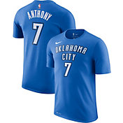 Nike Youth Oklahoma City Thunder Carmelo Anthony #7 Dri-FIT Blue T-Shirt