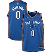 Nike Youth Oklahoma City Thunder Russell Westbrook #0 Blue Dri-FIT Swingman Jersey