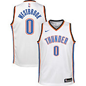 Nike Youth Oklahoma City Thunder Russell Westbrook #0 White Dri-FIT Swingman Jersey