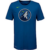 Nike Youth Minnesota Timberwolves Dri-FIT Blue Logo T-Shirt
