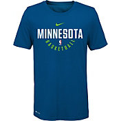 Nike Youth Minnesota Timberwolves Dri-FIT Blue Practice T-Shirt