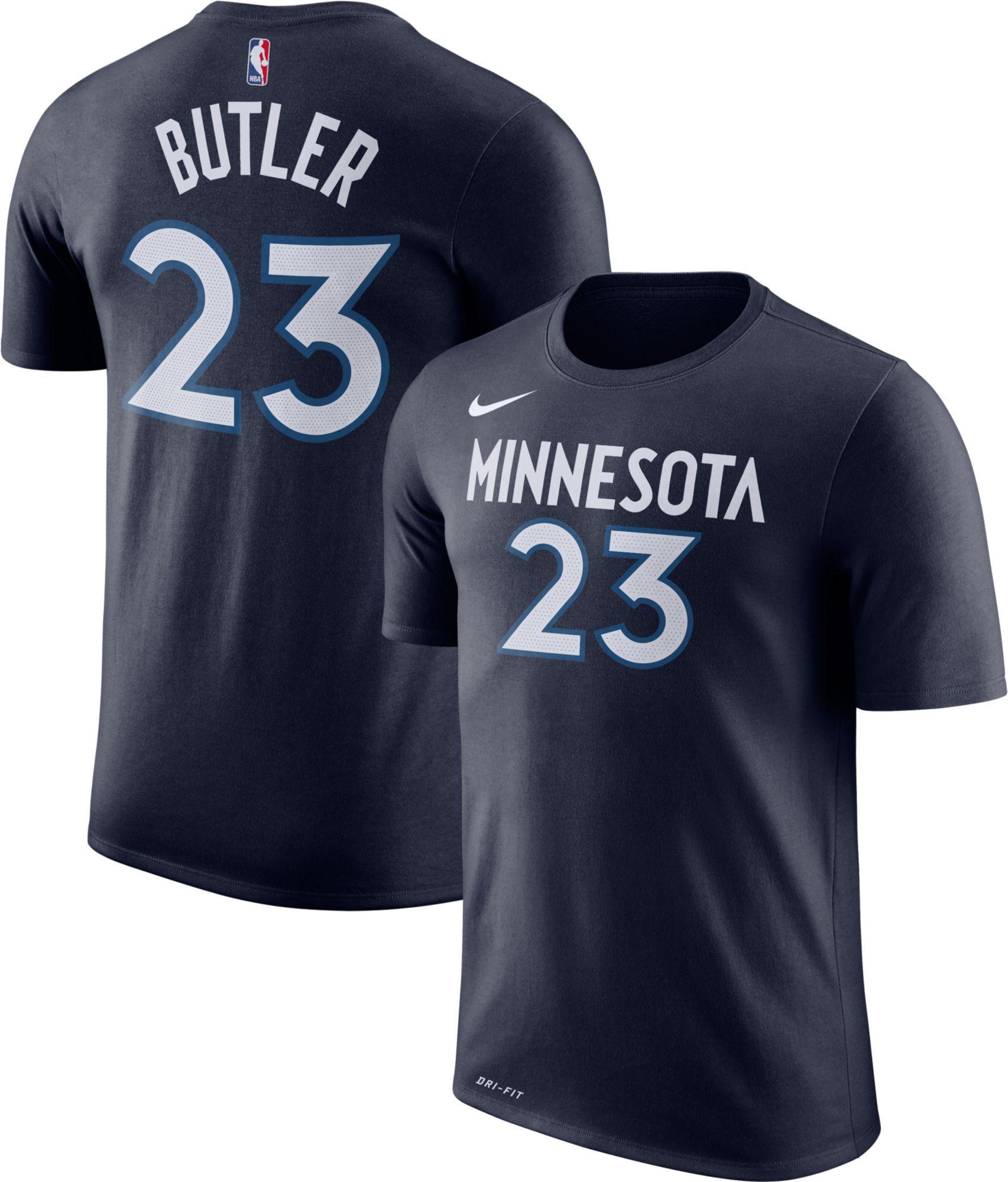 5bb2f92aa419 ... italy nike youth minnesota timberwolves jimmy butler 23 dri fit navy t  shirt 536c9 f6ddb