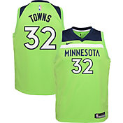 Nike Youth Minnesota Timberwolves Karl-Anthony Towns #32 Green Statement Dri-FIT Swingman Jersey