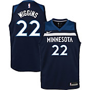 Nike Youth Minnesota Timberwolves Andrew Wiggins #22 Navy Dri-FIT Swingman Jersey