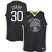 Nike Youth Golden State Warriors Stephen Curry #30 Grey Dri-FIT Swingman Jersey