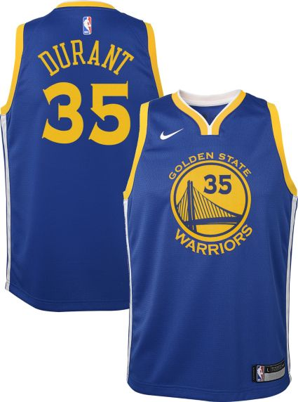cb8d9f980c0 Nike Youth Golden State Warriors Kevin Durant  35 Royal Dri-FIT Swingman  Jersey