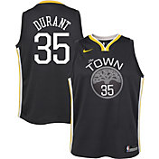 Nike Youth Golden State Warriors Kevin Durant #35 Grey Dri-FIT Swingman Jersey