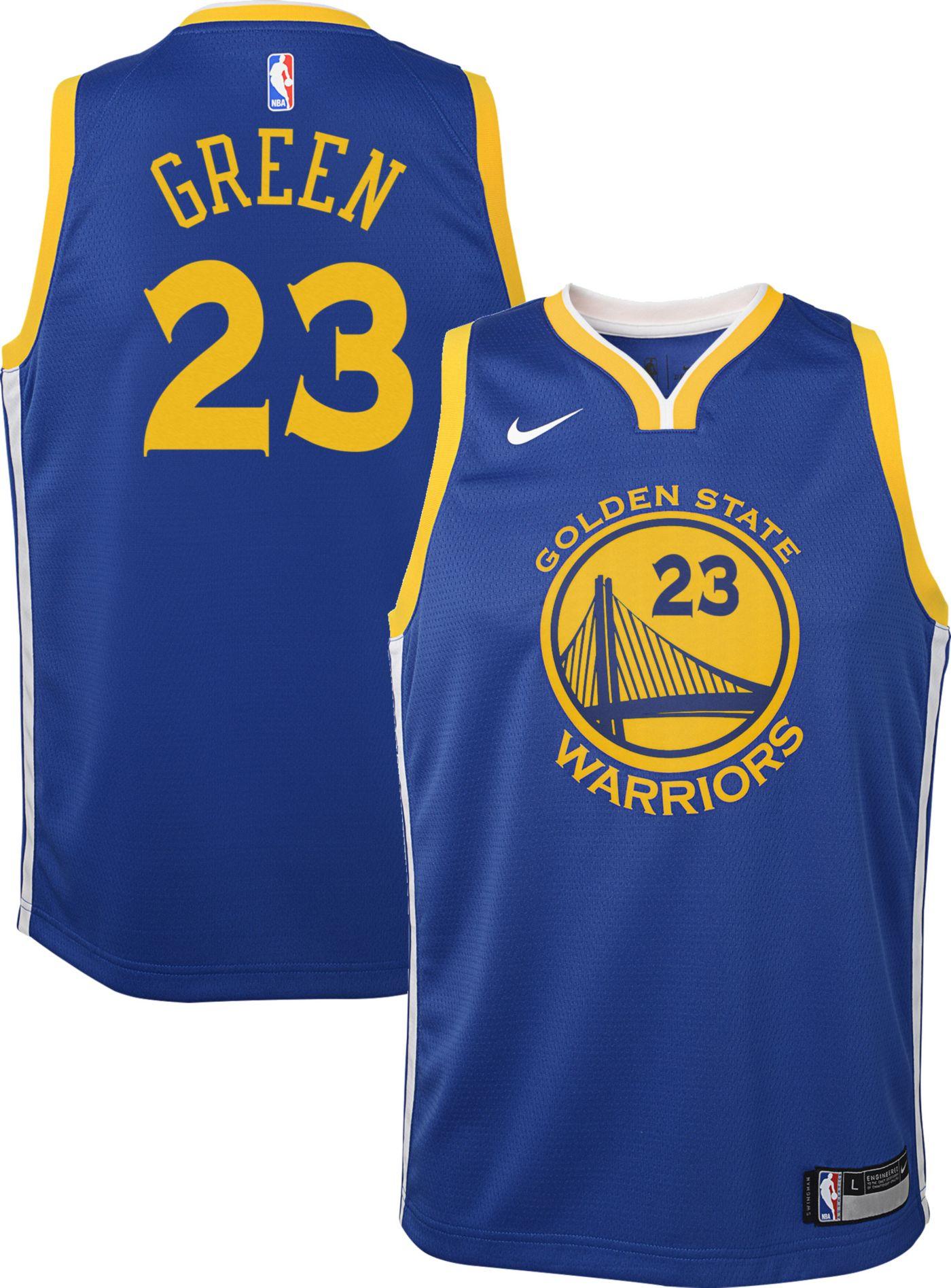Nike Youth Golden State Warriors Draymond Green #23 Royal Dri-FIT Swingman Jersey