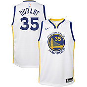 Nike Youth Golden State Warriors Kevin Durant #35 White Dri-FIT Swingman Jersey