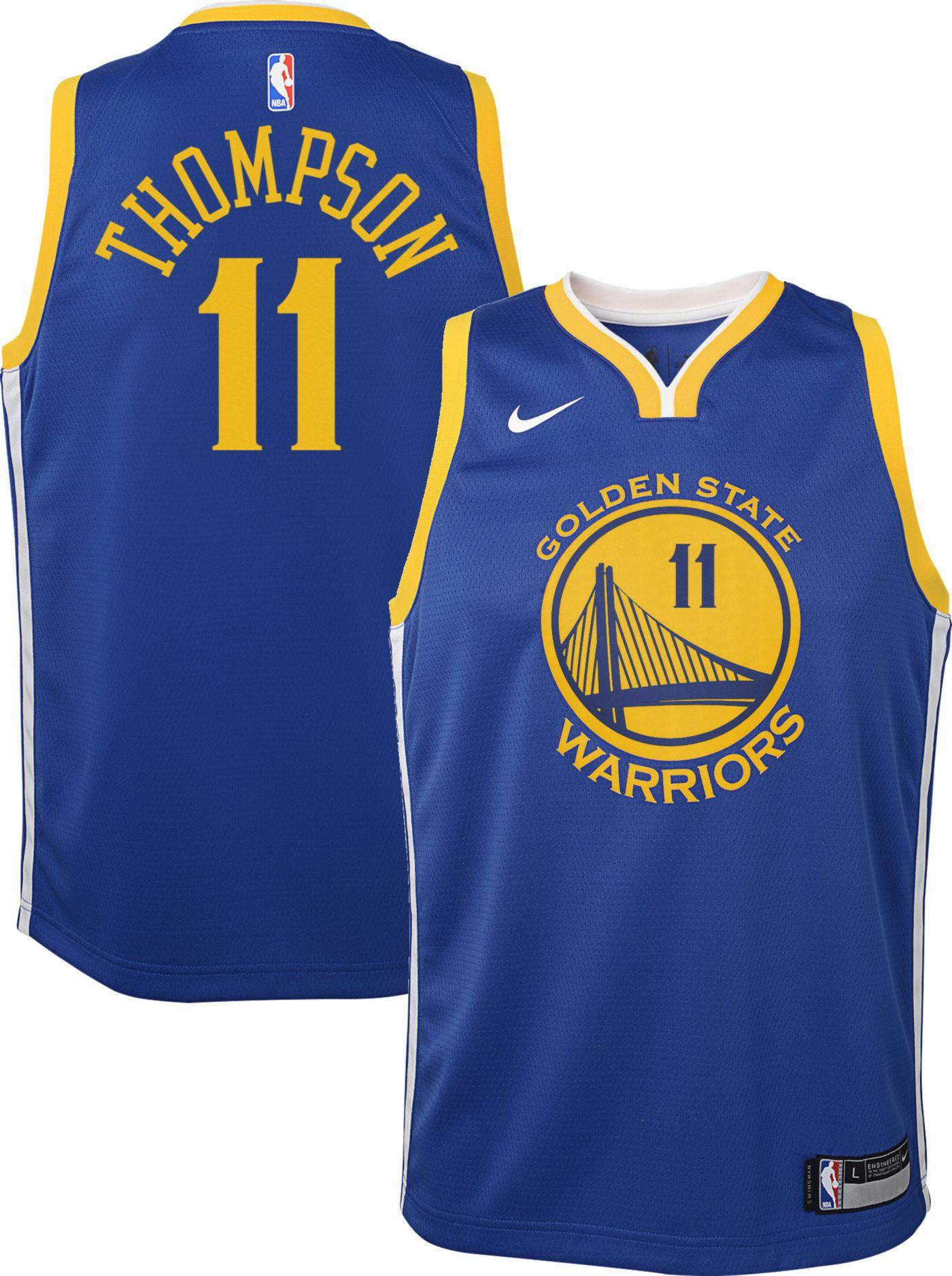 Nike Youth Golden State Warriors Klay Thompson #11 Royal Dri-FIT Swingman Jersey