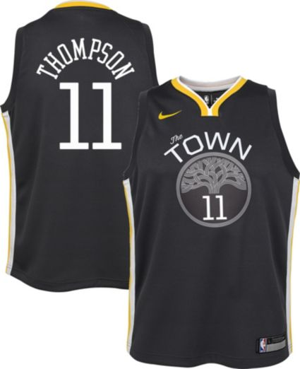 1c025a22095 ... discount code for nike youth golden state warriors klay thompson 11  grey statement dri fit swingman
