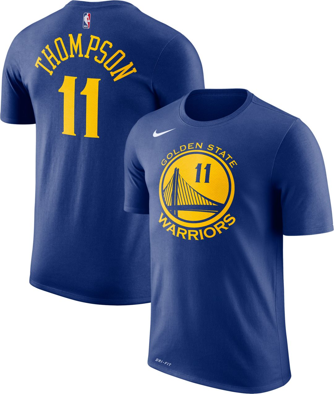 separation shoes eb62b f8f39 Nike Youth Golden State Warriors Klay Thompson #11 Dri-FIT Royal T-Shirt