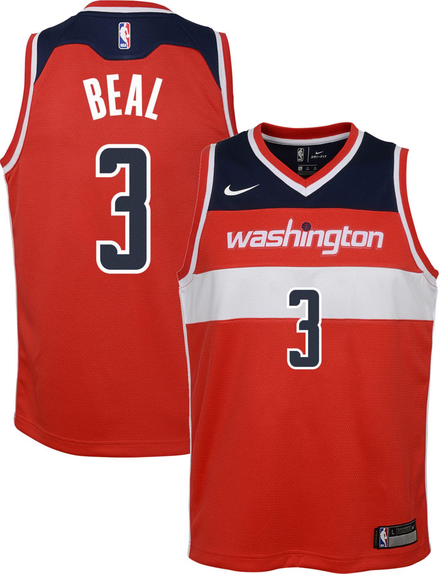 Nike Youth Washington Wizards Bradley Beal #3 Red Dri-FIT Swingman Jersey