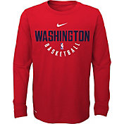 Nike Youth Washington Wizards Dri-FIT Red Practice Long Sleeve Shirt