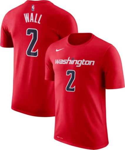 new concept 2cedd 24e5b Nike Youth Washington Wizards John Wall #2 Dri-FIT Red T-Shirt