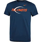 Nike Youth Illinois Fighting Illini Blue Football Icon Legend T-Shirt