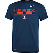 Nike Youth Illinois Fighting Illini Blue Football Staff Legend T-Shirt