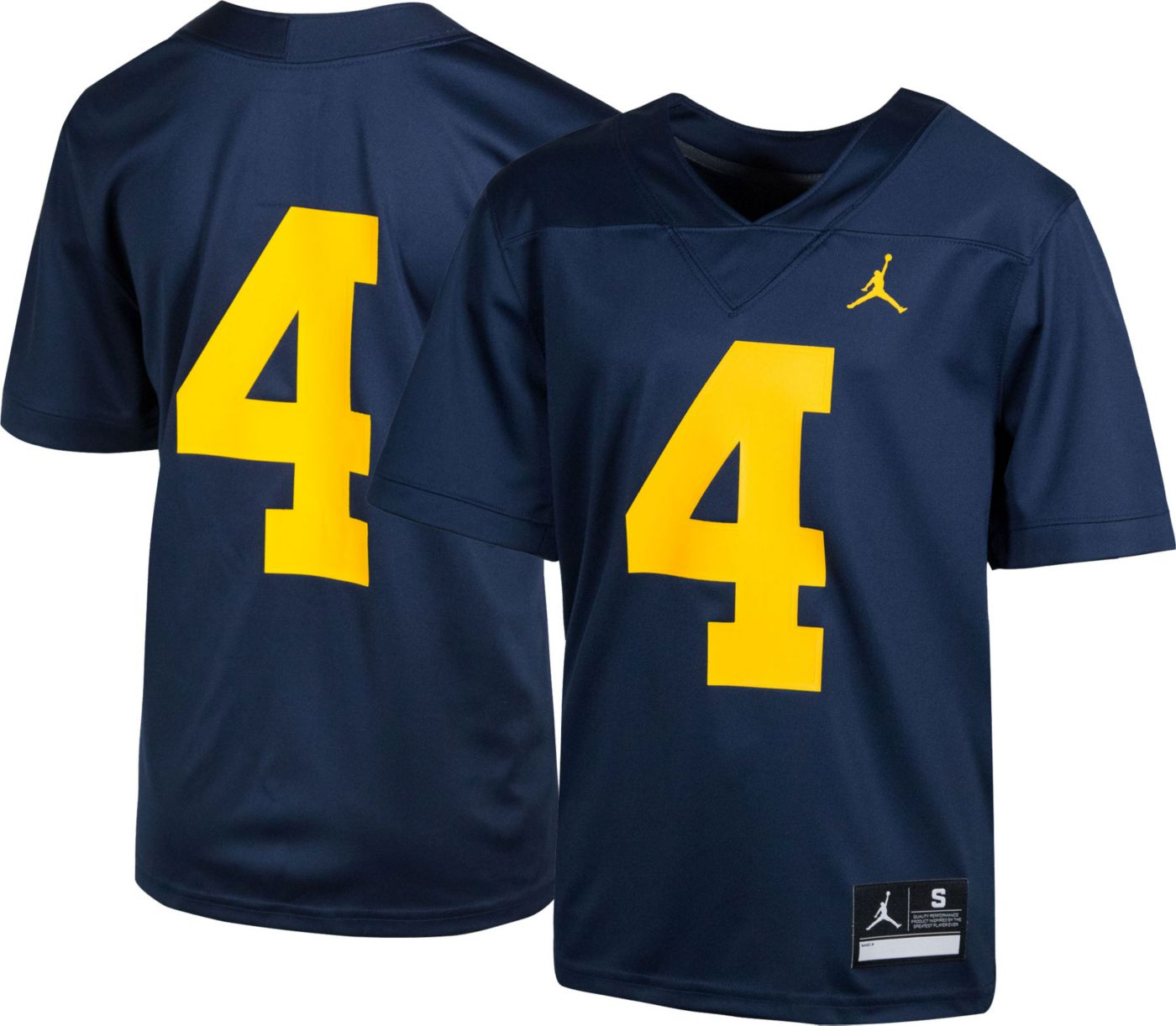 Nike Youth Michigan Wolverines #4 Blue Game Football Jersey