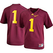 Nike Youth Minnesota Golden Gophers #1 Maroon Game Football Jersey