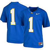 Nike Youth Pitt Panthers #1 Blue Game Football Jersey