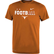 Nike Youth Texas Longhorns Burnt Orange FootbALL Sideline Legend T-Shirt