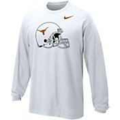 Nike Youth Texas Longhorns White Logo Long Sleeve T-Shirt
