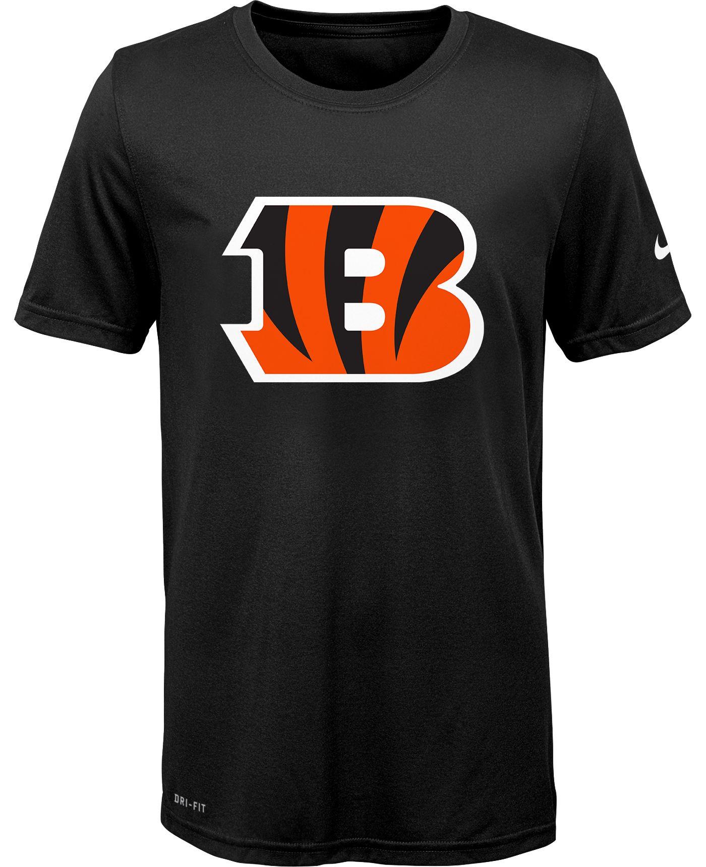 Nike Youth Cincinnati Bengals Legend Logo Black Performance T-Shirt