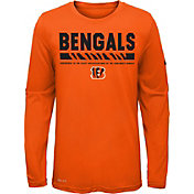 Nike Youth Cincinnati Bengals Legend Staff Orange Performance Long Sleeve Shirt