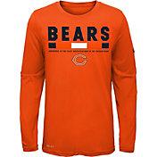 Nike Youth Chicago Bears Legend Staff Orange Performance Long Sleeve Shirt