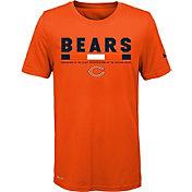 Nike Youth Chicago Bears Legend Staff Performance Orange T-Shirt