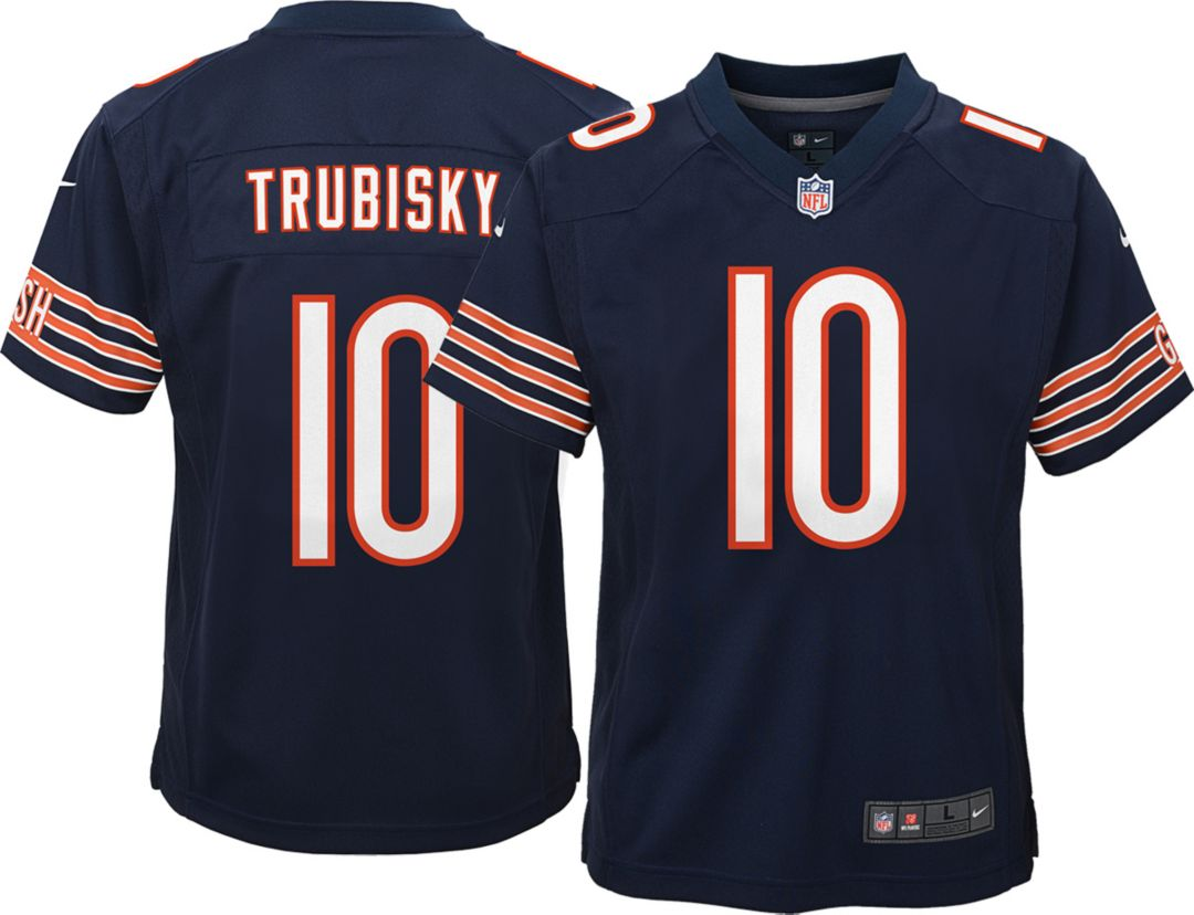 c35fa023a57 Nike Youth Home Game Jersey Chicago Bears Mitchell Trubisky #10 ...