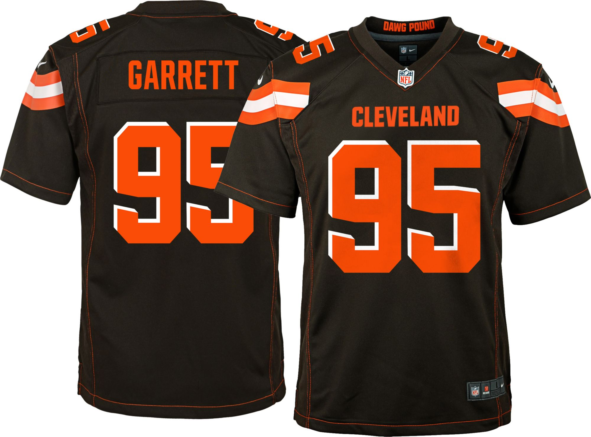 myles garrett jersey orange